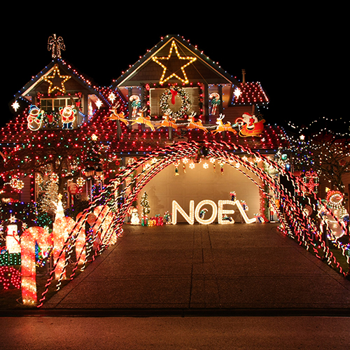 Over-the-top example of holiday lighting